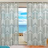 Cheap INGBAGS Bedroom Decor Living Room Decorations Arrow Pattern Pattern Print Tulle Polyester Door Window Gauze / Sheer Curtain Drape Two Panels Set 55×78 inch ,Set of 2