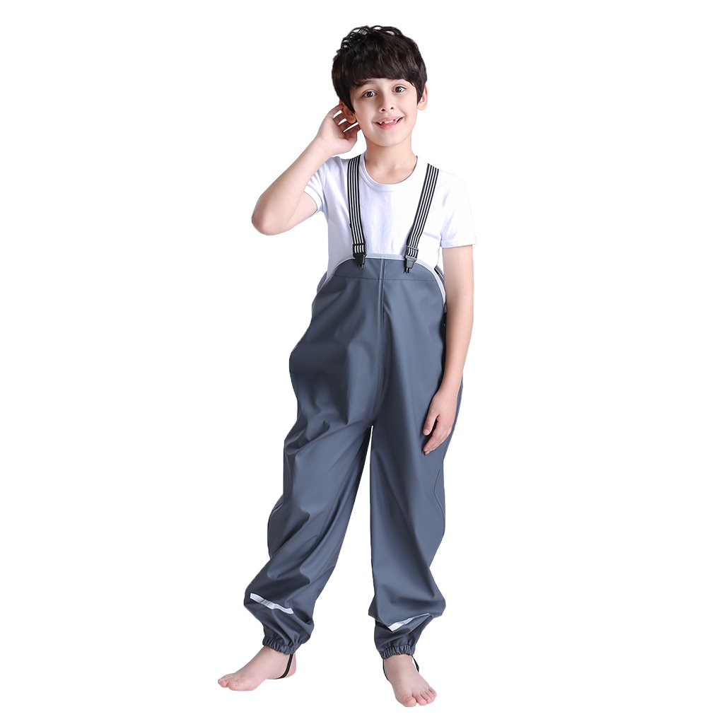 Vine Kids Waterproof Dungarees Rain Over Trousers Boys Girls Rain Pants Vine Trading Co. Ltd K180403YK001V
