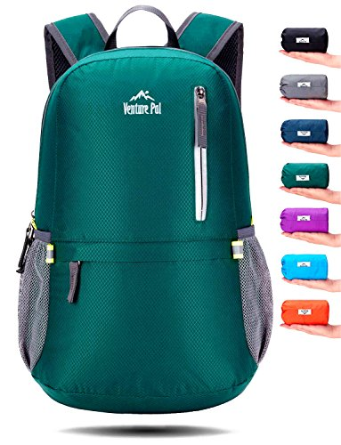 Venture Pal 25L Travel Backpack - Durable Packable Lightweight Small Backpack for Women Men (Green) by Venture Pal
