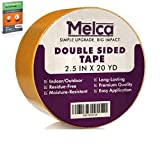 Melca Double Sided Gripper Tape - Rug/Carpet - 2.5 Inch (20 Yards)