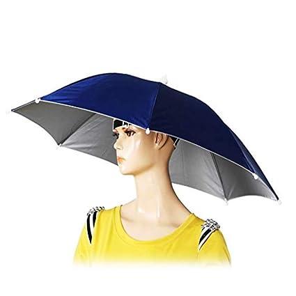 Amazon.com  Tesco store Elastic Band Fishing Headwear Umbrella Hat ... 735ae5df994