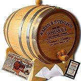 """MADE BY"" American Oak Barrel - Personalized American Oak Aging Barrel - Design 063: Barrel Aged Whiskey (5 Liter)"