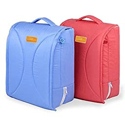Sunveno Newborns baby Cradles Crib infant kids safety Portable folding bed Handhold Bed (Blue)