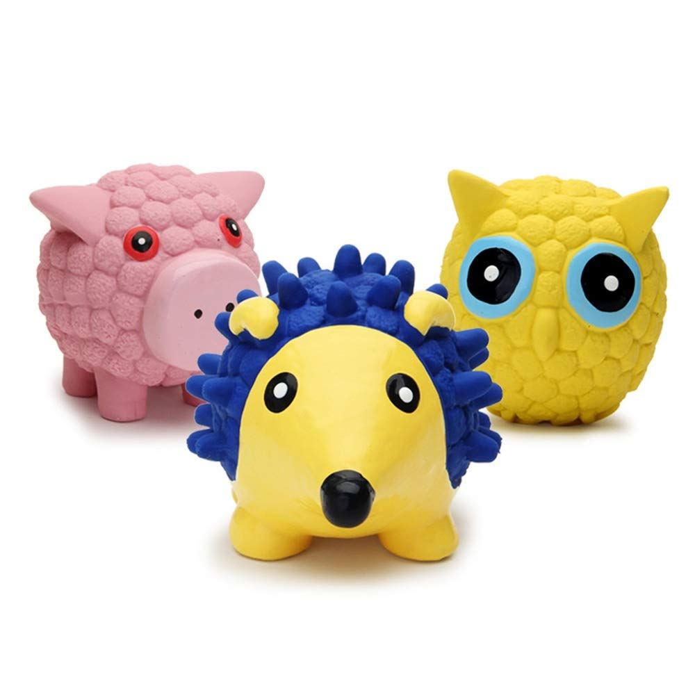 L Plush Dog Bite-Resistant Toy, 3 Packs Squeaky Plush Dog Toy, Stuffingless Dog Chew Toy for Small Medium Dogs (Size   L)