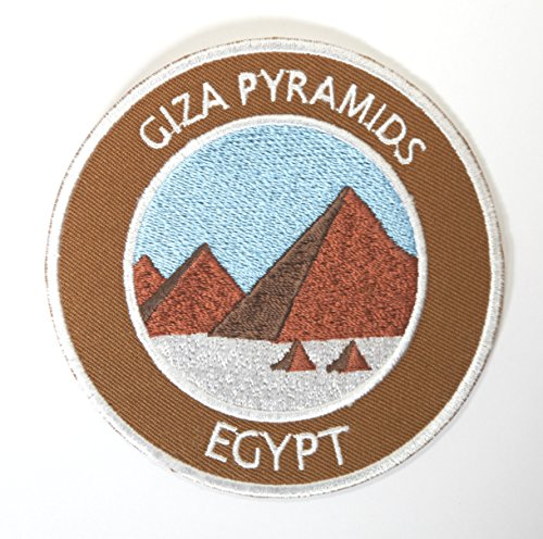 Giza Pyramids Egypt Embroidered Iron on Patch / 3.5 Inch Embroidered Badge Trekking Applique