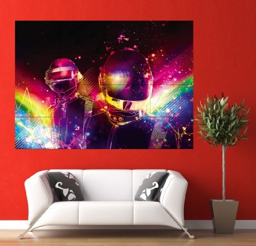Daft Punk Rainbow Huge Large Giant Wall Poster