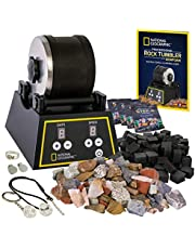 NATIONAL GEOGRAPHIC Professional Rock Tumbler Kit- Advanced features include Shutoff Timer and Speed Control - 907 Gram Barrel, 453 Grams of Gemstones, 4 Polishing Grits, GemFoam, Jewelry Fastenings and Learning Guide