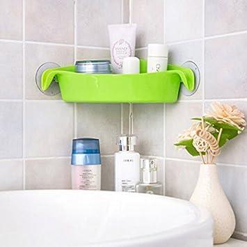 Ljf Grünes Badezimmer WC Dusche Ecke Ablageboden Dusche ...