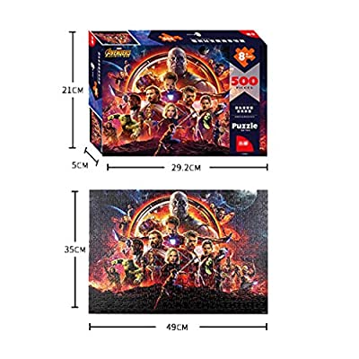 YE ZI Jigsaw Puzzles- Avengers Puzzle, 500 Pieces of Children's Educational Toys Adult Children's Puzzle Big Gift for Boys and Girls (Color : Multi-Colored ): Toys & Games