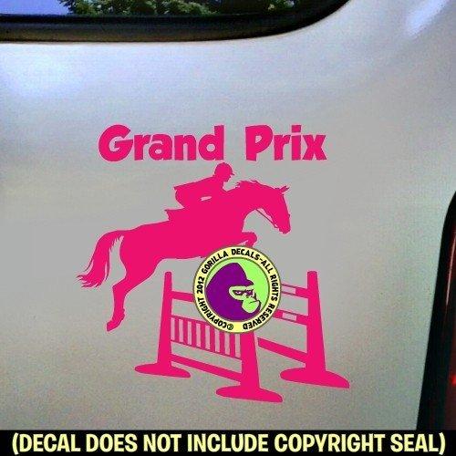 GRAND PRIX Spread Jump Hunter Jumper Vinyl Decal Sticker C
