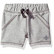 Burt's Bees Baby Baby Organic Shorts, Heather Grey Reverse Terry, 18 Months