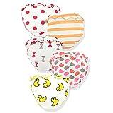 JIEYA 5-Pack Cotton Baby Girls Diaper Covers Boys Shorts