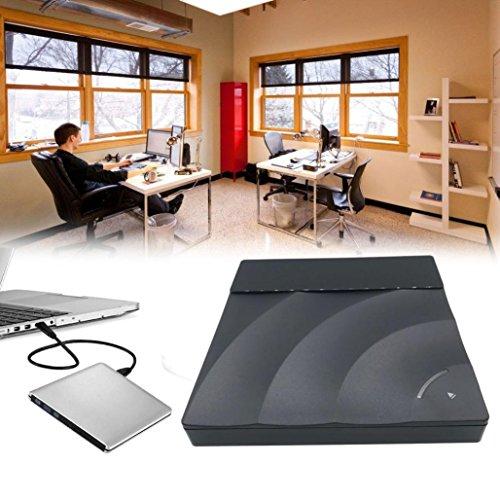 Price comparison product image Nacome External CD DVD Drive,USB 3.0 Ultra Slimline Portable Double-Layer DVD CD Burner for Laptop (Black)