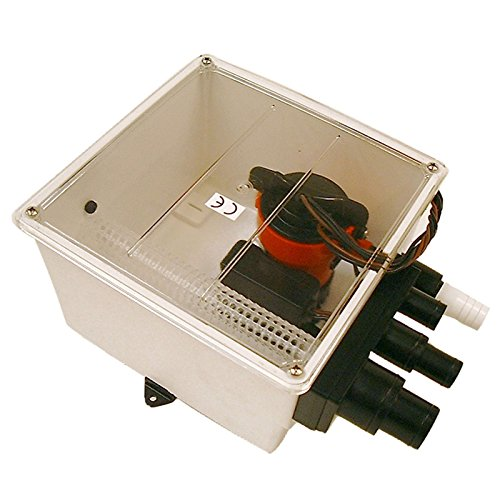 Johnson 12V 1000 GPH Multi Port Shower Pump with Switch (Renewed)