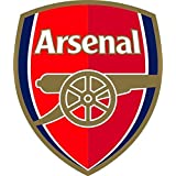 "(2) x Arsenal F.c. Wall Sticker Logo 4""x5"""