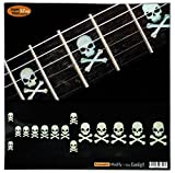 Fretboard Markers Inlay Sticker Decals for Guitar & Bass - Sideways Skull w/Crossbones
