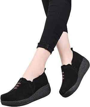 Chaussures Bateau Confortables Femmes Compensé Mesdames