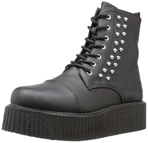 V-CREEPER-573 Blk Vegan Leather Size UK 9 EU 42