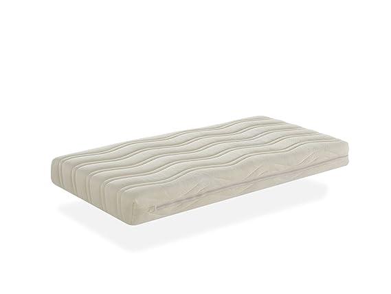 Colchón de cuna núcleo FIBRA DE COCO natural + 100% LÁTEX para cuna de 120x60cm transpirable antiácaros antibacterias comodidad confort bebe: Amazon.es: ...