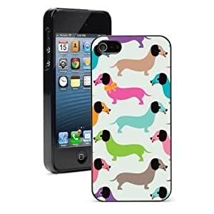 Pink Ladoo? For iPhone 5 5S Hard Case Cover Retro Dachshund Doxie Dogs -02