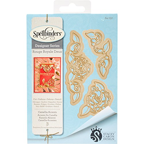 Spellbinders S4-737 Shapeabilities Camellia Accents Etched/Wafer Thin Dies ()