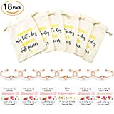 #8: Nymph Code Bridesmaid Gifts Bachelorette Party Supplies - 6 Set Rose Gold Love Knot Bracelets with Bridesmaid Hair Ties,Perfect Bridal Shower Gifts for Bridesmaid