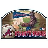 MLB Atlanta Braves 11-By-17-Inch Killen Print Wood Sign
