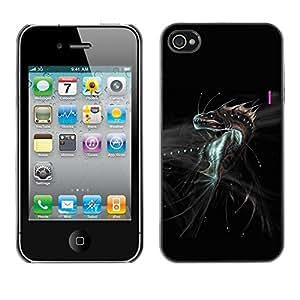 TopCaseStore / la caja del caucho duro de la cubierta de protección de la piel - Fantasy Dragon Monster - Apple iPhone 4 / 4S