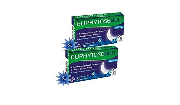 Euphytose Nuit - Lote de 2 cajas de 30 comprimidos para un mejor sueño: Amazon.es: Salud y cuidado personal