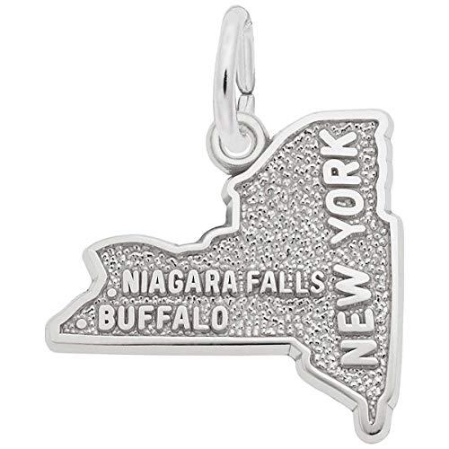 Rembrandt Charms Buffalo, Niagara Falls Charm, 14K White Gold