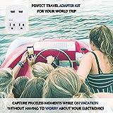 World Travel Adapter Kit by Ceptics - QC 3.0 2 USB