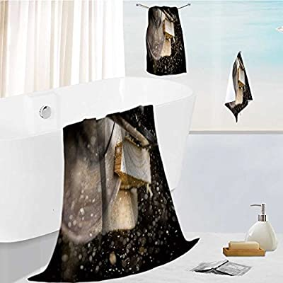 aolankaili Cotton Large Hand Towel Set close up of carpenter cutting a wooden plank Multipurpose Bathroom Towels for Hand by aolankaili