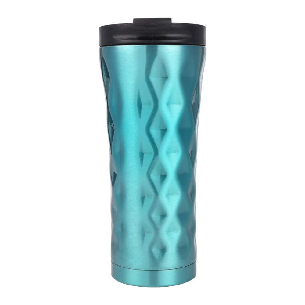 Huifa Stainless Steel Vacuum Creative Business Coffee Mug with Irregular Shape (Green) by Huifa Water Bottles