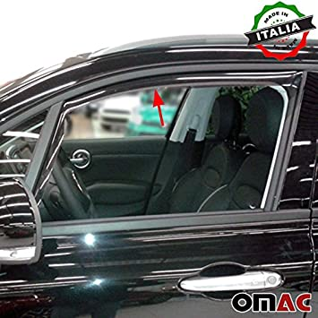 Fiat 500/Front Wind and Rain Deflector 2/Piece Kit 2015