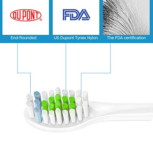 1958LLC Standard Toothbrushes Replacement Heads for Philips Sonicare e-Series HX-Series, Fits Sonicare Advance, Elite, Essence, Xtreme and More Snap-On Brush Handles, 8 Pack