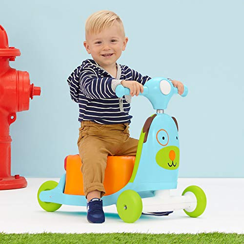 51d1rpWBgEL - Skip Hop Kids 3-in-1 Baby Activity Walker & Ride On Scooter Wagon Toy, Dog
