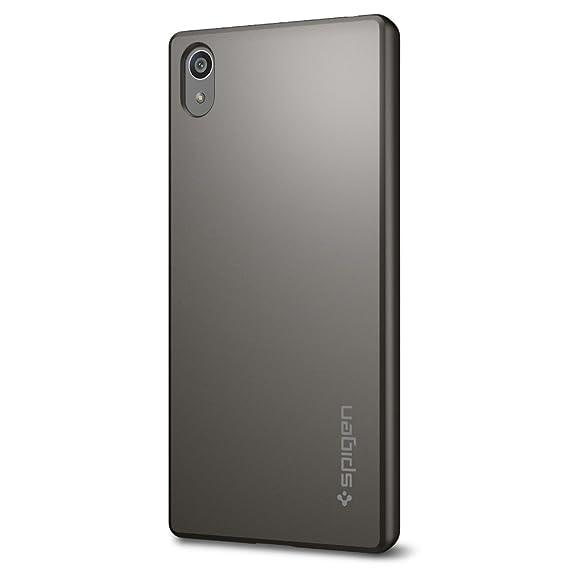 best website e2c5d 9c3e6 Spigen Thin Fit Designed for Sony Xperia Z5 Case (2015) - Gunmetal