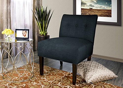 "MJL Furniture Designs Samantha Collection Fabric Upholstered Button Tufted Living Room Accent Guest Chair, Obsession… - A VERITABLE THRONE: Each Accent Living Room Chair Measures 27""L x 24""W x 35""H and Weighs 21 LBS. Leg Assembly is Required Upon Delivery of Chair. UNYIELDING CONSTRUCTION: These Living Room Chairs are Carefully Constructed of Sturdy and Unyielding Wood, Resulting in a Generous 250 LB Chair Weight Capacity. EXQUISITE AND ELEGANT: The Obsession Accent Chair Features an Exquisite Fabric Upholstery of 100% Polyester. The Chairs are Further Adorned With an Elegant, Button Tufted Back. - living-room-furniture, living-room, accent-chairs - 51d1s6KxVEL -"