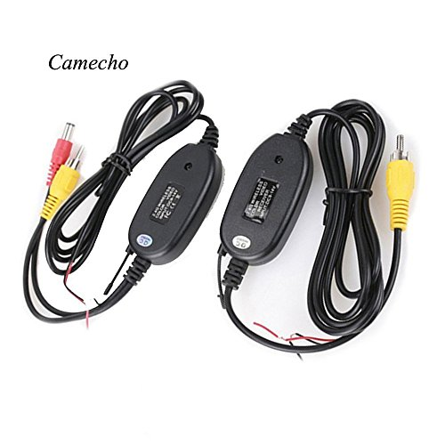 Camecho NEW 2.4G Wireless Color Video Transmitter and Receiver for The Vehicle Backup Camera Front Rear Car Camera