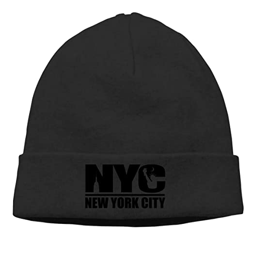 Hip-Hop Knitted Hat for Mens Womens NYC York City Unisex Cuffed ... 385be477ed