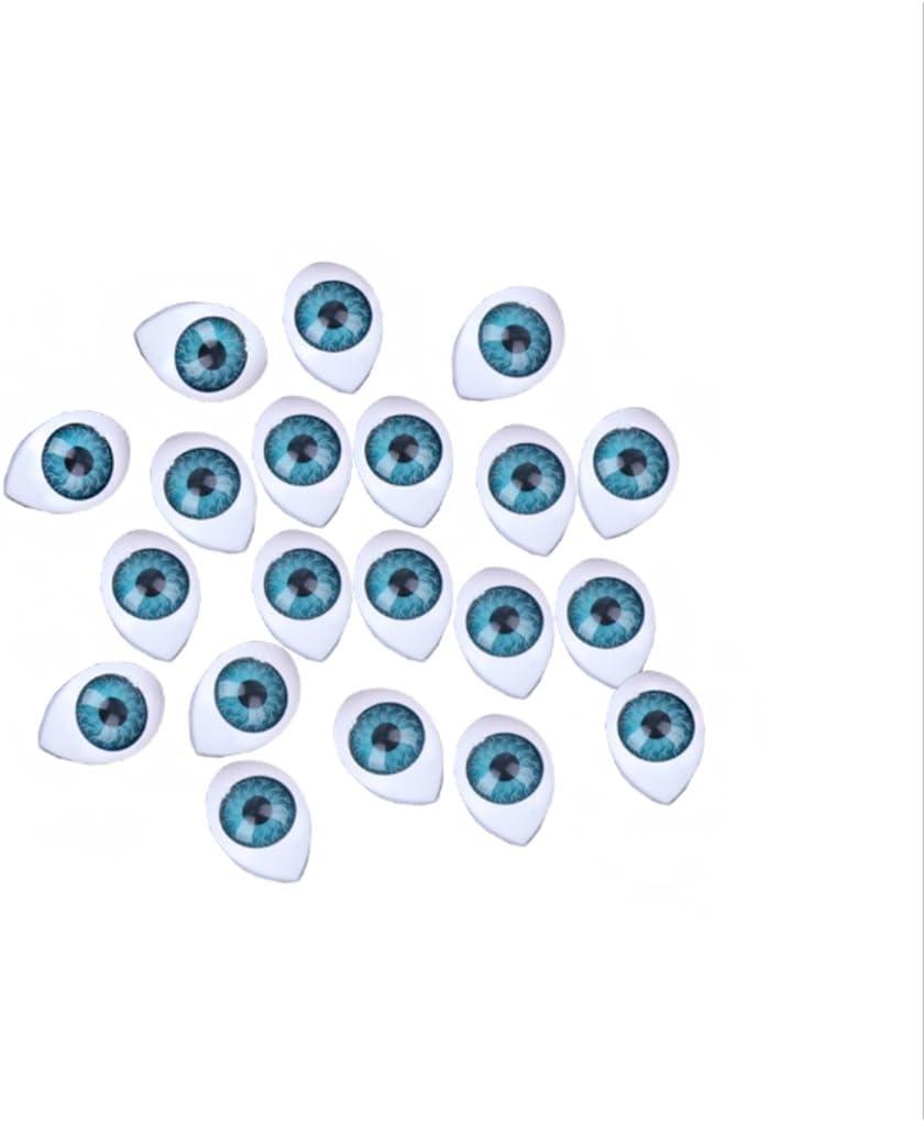 Blau, 10x14mm Cuigu 20 St/ücke Kunststoff Puppe Sicherheits Augen F/ür Tier Spielzeug Puppe Machen DIY Handwerk Zubeh/ör