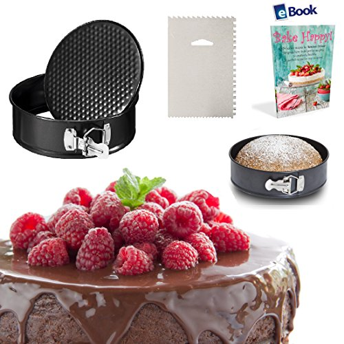Instant Pot Springform Cake Pan - LEAKPROOF - 7 Inch - BEST Bundle - Fits Instapot Pressure Cooker - Non-Stick Cheesecake Tin - BONUS Accessories - Icing Smoother + eBook - Round Mold Removable Bottom