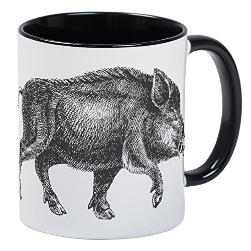 CafePress - Wild Boar Mug - Unique Coffee Mug, Coffee Cup ()