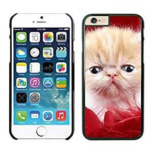 Personalization Red Fur Christmas Cute Cat Iphone 6 Cover Case For Iphone 6 4.7 Inch