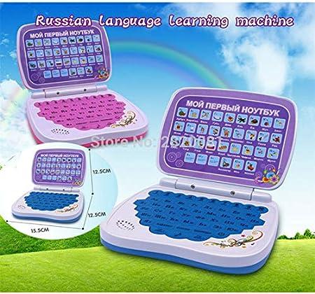 máquina de Aprendizaje de la Lengua Rusa Mini Ordenador con el Alfabeto La pronunciación, el Aprendizaje de los niños y los Juguetes educativos del Ordenador portátil y del Bule