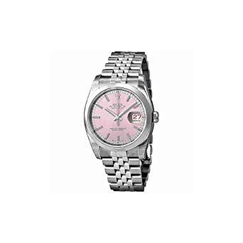 36c799f6b4a Image Unavailable. Image not available for. Color: Rolex Datejust Pink Dial  Stainless Steel Jubilee Bracelet Mens Watch 116200PSJ