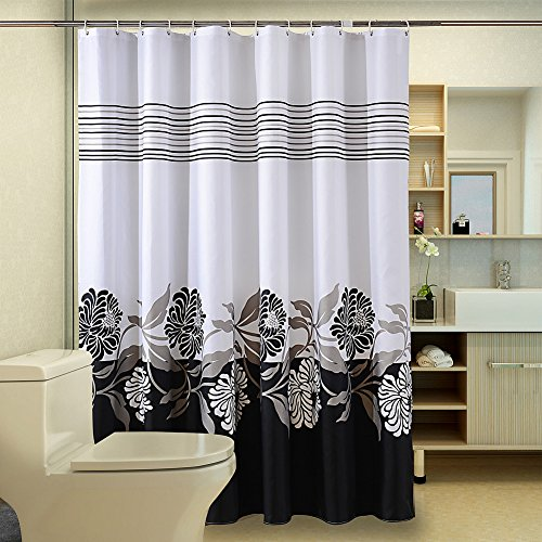 Uforme Garden Theme Shower Curtain Polyester Heavy Duty Durable Bathroom Waterproof And Mildew Resistant For Elegance Decorations