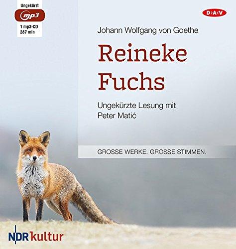 Reineke Fuchs  Ungekürzte Lesung Mit Peter Matić  1 Mp3 CD