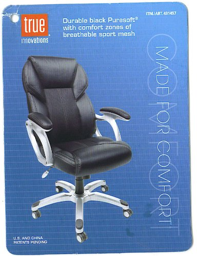 amazon com true innovations durable leather office chair black