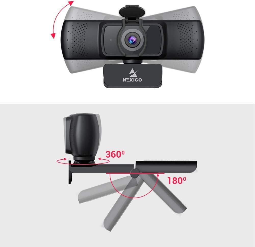 NexiGo HD USB Web Camera 2020 1080P Streaming Business Webcam with Microphone /& Privacy Cover AutoFocus for Zoom Meeting YouTube Skype FaceTime Hangouts PC Mac Laptop Desktop
